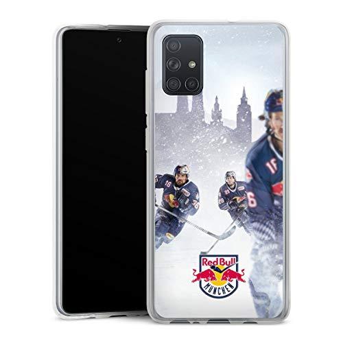 DeinDesign Silikon Hülle kompatibel mit Samsung Galaxy A71 Case transparent Handyhülle EHC Red Bull München Offizielles Lizenzprodukt Eishockey