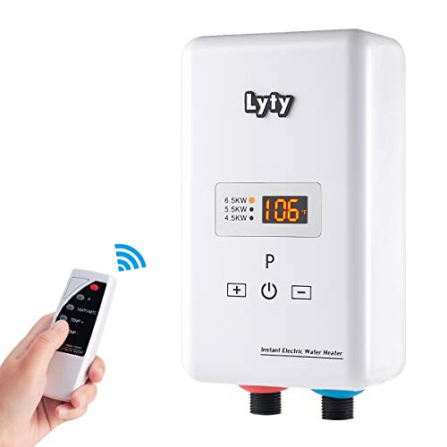 Instant Tankless Hot Water Heater with Remote Control 6.5kw at 240V 220V Mini Electric Point of Use...