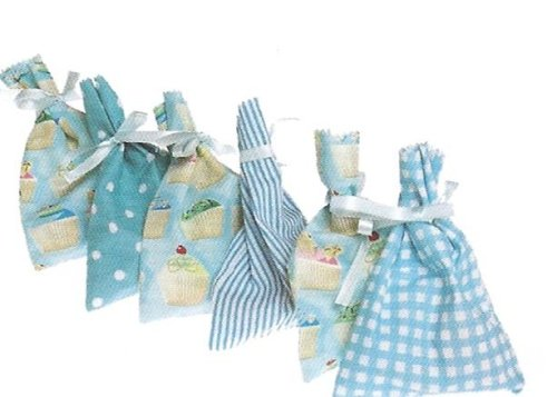 Loot / Party Bag ~ Cotton With Ribbon Tie ~ Blue