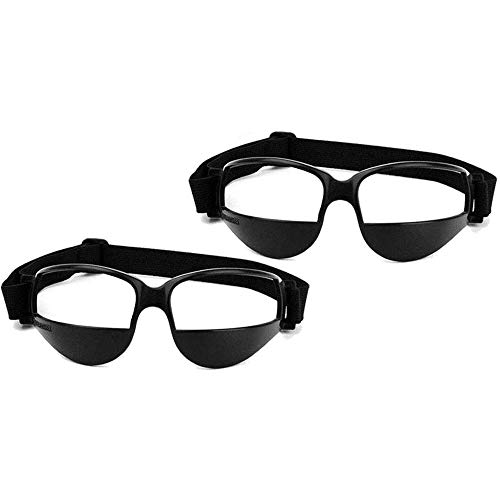 POFET 2 Piezas Gafas de Baloncesto Gafas de Deporte Gafas de Deporte Gafas de Deporte Negras Especificaciones de Goteo Ayuda de Entrenamiento de Baloncesto para Adolescentes Regalos para niños