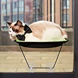 D.Jane Cat Window Bed Hammock Window Mounted Cat Perch Sunny Seat for Small Indoor Cat up to 28 lb with Suction Cups Green