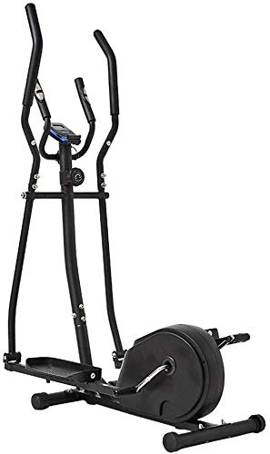GJJSZ Elliptical Cross Trainer Elliptical Machine Cross Trainer 2 In 1 Exercise Bike Cardio Fitness Home Gym Equipmen Indoor Home Fitness Cardio Workout Machine(Color:Black,Size:156x80x47cm)