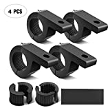 Nilight - 90028D 4PCS LED Light Bar Horizontal Bar Clamp Mounting Kit Fit on 0.75' 1' 1.25' Bull Bars Roof Racks Roll Cages for ATV UTV and Trucks, 2 Years Warranty
