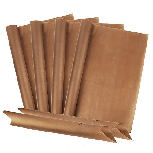 Redmoo Dauerbackfolie (6er Set, 40 x 60 cm) Premium Backpapier aus Glasfaser, Wiederverwendbar, Hitzebeständig, Antihaftbeschichtet Backfolie Zuschneidbar und spülmaschinenfest (6PCS)