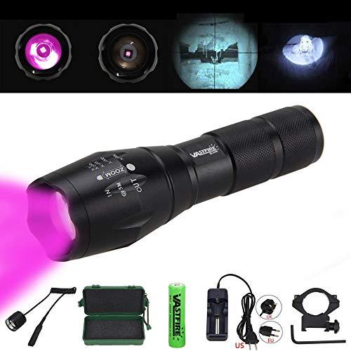 VASTFIRE Focusable Infrared Flashlight 850nm IR Light...