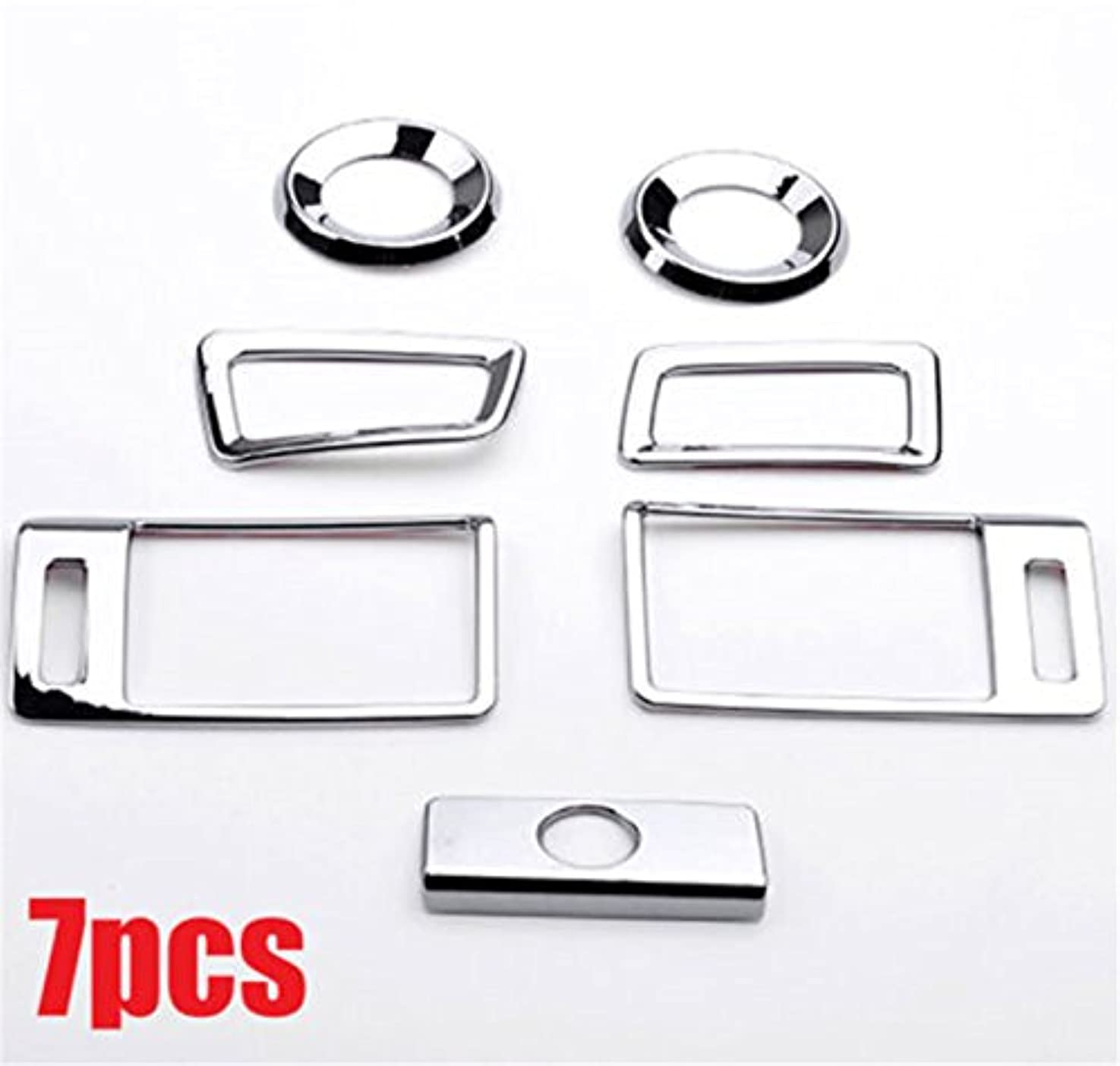 Jicorzo - 7pcs Car Air Vent Door Speaker Chrome Trim Cover Fit For Honda Accord 2013-2017 Bezel Car Interior Accessories Styling
