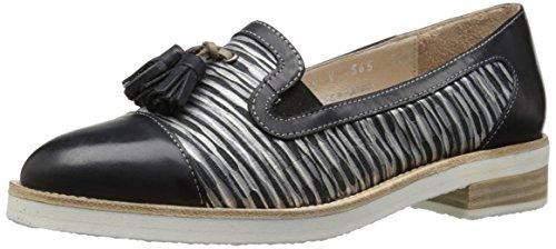 Fidji Damen V565 Slip-on Loafer, Schwarz/Schwarz/Grau, 39 EU