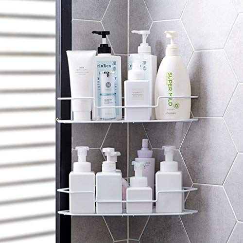 Lfixhssf Badkamer statief Punch Corner rek wandbehang douchegel shampoo opslagframe Lfixhssf wit