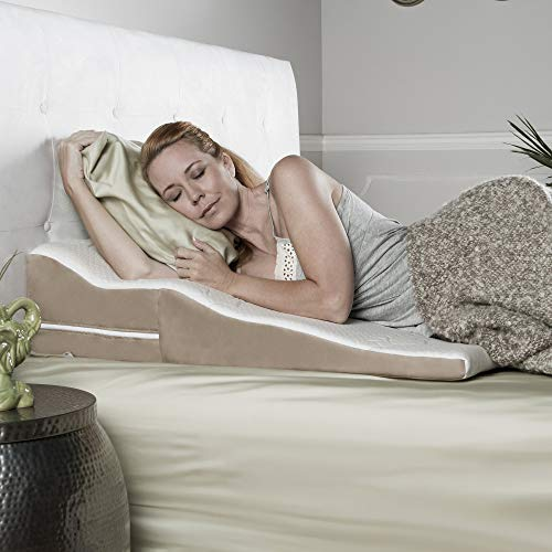 Contoured Bed Wedge Support Pillow for Side Sleepers*