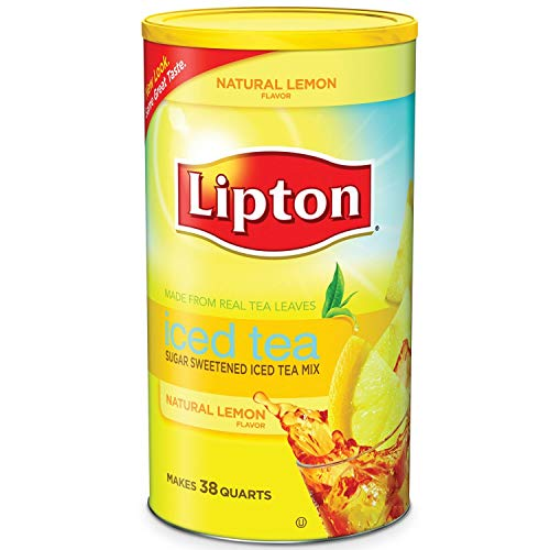 Lipton Lemon Flavor Sugar Sweetened Iced Tea Mix 38 Quarts (Lipton Zitronengeschmack Zucker Gesüßt Eistee Mix)