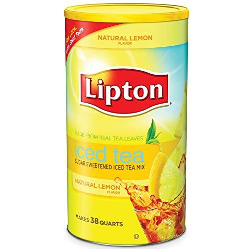 Lipton Lemon Flavor Sugar Sweetened Iced Tea Mix 38 Quarts (Lipton Zitronengeschmack Zucker Gesüßt Eistee Mix)