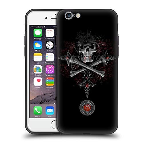 Head Case Designs Ufficiale Anne Stokes Teschio Gotico Tribale Cover Ibrida Skinny Fit Trasparente Compatibile con Apple iPhone 6 / iPhone 6s