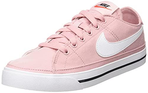 Nike Wmns Court Legacy Cnvs, Scarpe da Ginnastica Donna, Pink Glaze/White-Black-Team Orange, 36.5 EU
