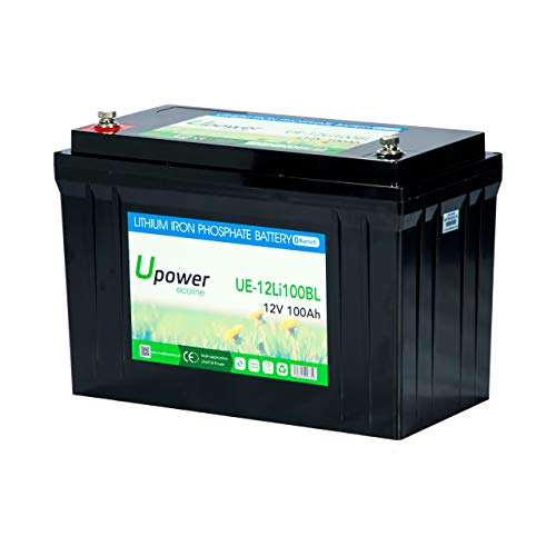 Master U-Power Batería Litio 100Ah 12V Bluetooth, UE-BL