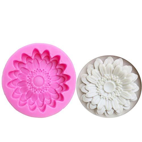 Weiggen Moule en silicone pour chrysanthèmes en forme de fleurs en forme de tournesol