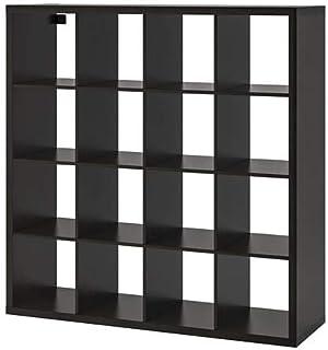 """Ikea ` New KALLAX Shelf Unit, Black-Brown (Black, 57 7/8x57 7/8"""")"""