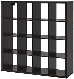Ikea ' New KALLAX Shelf Unit, Black-Brown (Black, 57 7/8x57 7/8