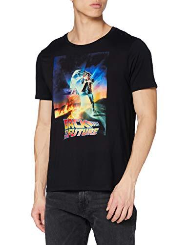 Zurück in die Zukunft Herren Mebafudts034 T-Shirt, Noir, M