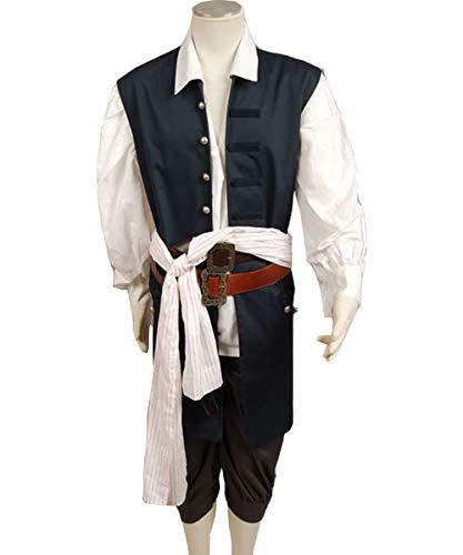 MingoTor Piraten Vest Weste Cosplay Kostüm Herren XL