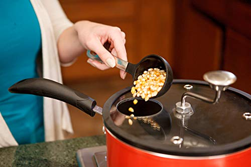 Product Image 2: Zippy Pop Red Marble Stovetop Popcorn Popper, 5-1/2-Quart, NEW 2020 Model, Glass Lid with Silicone Rim, Dishwasher Safe, Easily Make Classic or Flavored Popcorn, Recipes Included