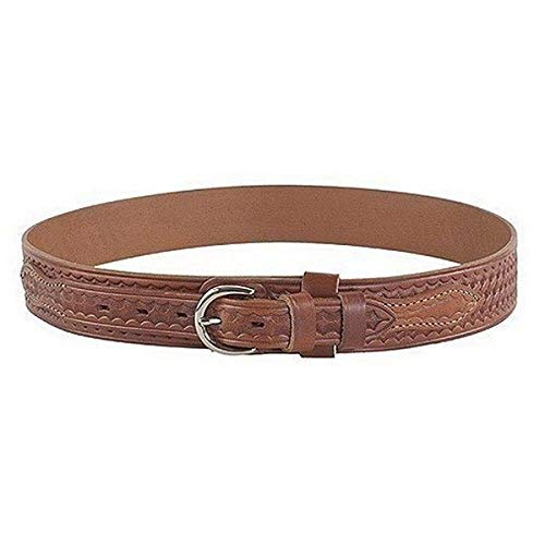Bianchi B4 Ranger Belt, 1.75' Width, Basket Weave Tan Finish, Chrome Buckle, SZ38