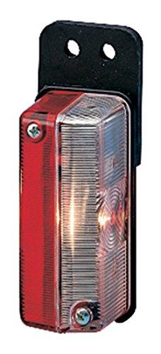 HELLA 2XS 005 020-011 Umrissleuchte - T4W - 12V/24V - Lichtscheibenfarbe: glasklar/rot - Anbau - Einbauort: seitlicher Anbau