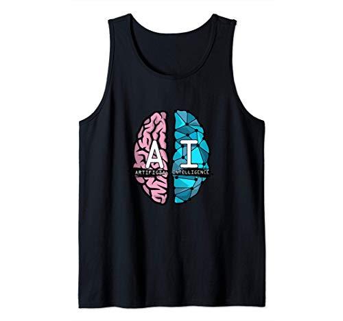 Regalo del cerebro artificial de inteligencia artificial Camiseta sin Mangas