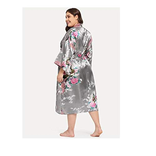 pyjama vrouwen pyjama simulatie zijde kimono gewaad vest lange badjas