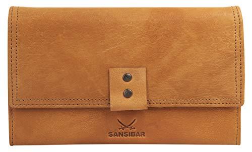 Sansibar Geldbörse Echt Leder cognac Damen - 019711