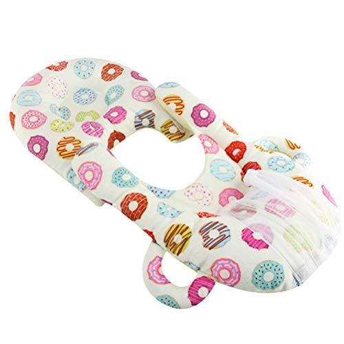 CeFoney Almohadas de lactancia materna multifuncional portátil almohadas de alimentación del bebé desmontable auto-alimentación tumbona bebé titular de la botella de bebé almohadas de lactancia