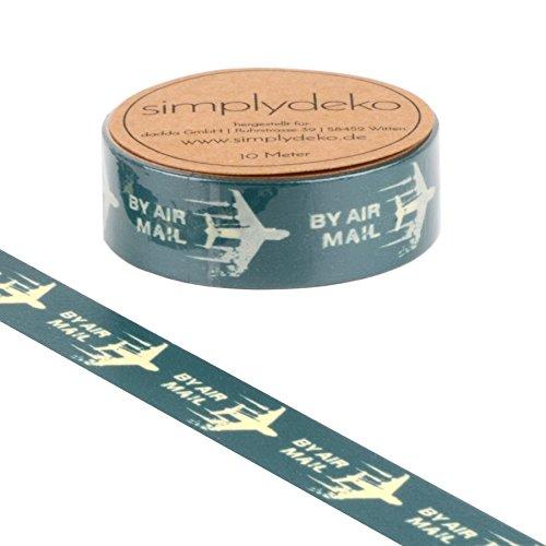Simplydeko Washi Tape - Masking Tape Vintage und Retro - Wundervolles Washitape Bastel-Klebeband aus Reispapier - Sprüche by Airmail