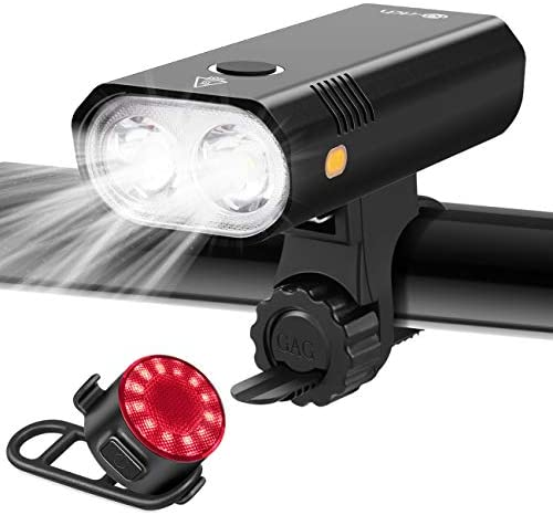Te Rich Bike Lights 800 Lumen Dual LED Bike Headlight with Wide Beam Safety Sidelights Super product image