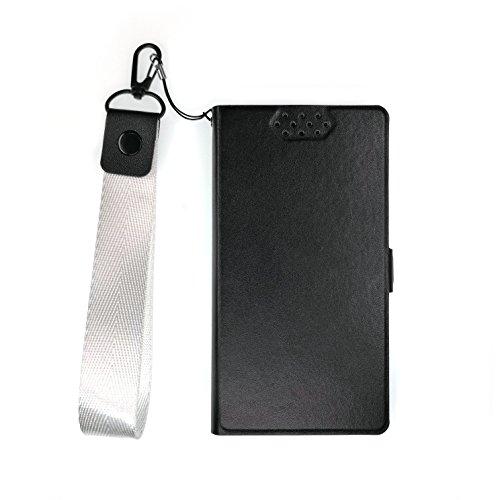TienJueShi Azul Book Style Funcion de Soporte Funda Caso Carcasa Proteccion Cuero Skin Case Cover Etui para Doopro P2 Pro 5.5 Inch