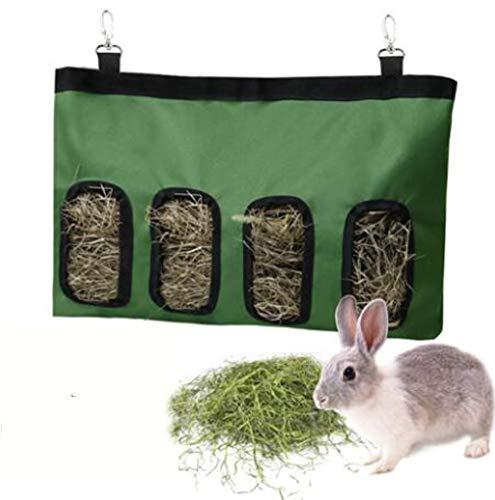 うさぎ 牧草フィーダー 干し草エコフィーダー 餌入れ 省スペース ゲージ用 オクスフォード素材 固定 清潔 衛生的 チンチラ モルモット 小動物用 ウサギ用品 2色