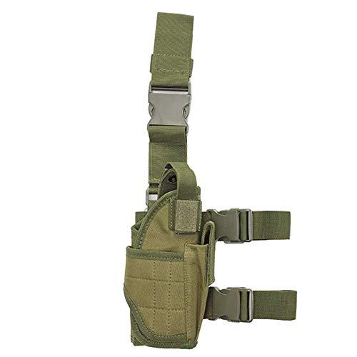 Pistolera De Pierna Caída Táctica Ejército Negro Ajustable Pistola Airsoft Militar para Todas Las Glock 1911 17/19/20/21/23/26/27,Verde