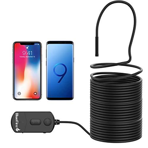 BlueFire Mejorada Semi-rígido Endoscopio WIFI, 2,0 Megapíxeles Impermeable Boroscopio Cámara de Inspección Con 6 Led Para Iphone Android Teléfono Tableta Dispositivo (10Metros)
