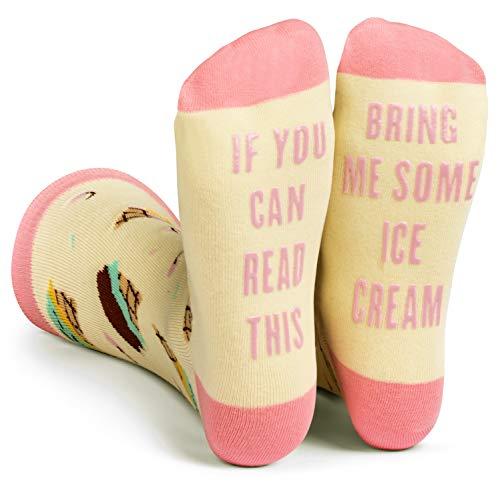 Lavley - Mens Novelty Socks - Funny Novelty Dress Socks For Men and Women (Ice Cream)