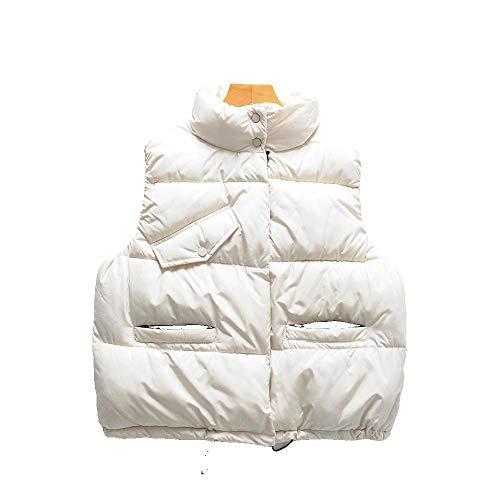 HANGMANGONGLU dames gilets trekkoord kraag valse tas katoenen vest jas voor de winter