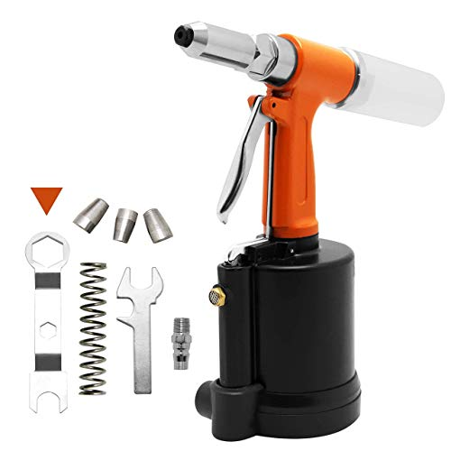 BJLWTQ Kit de herramientas AirDouble pop de la potencia del remache pistola neumática Industria Pop remachadora for trabajo pesado que clava durante 3/32,1/8,5/32,3/16 Aluminio/Hierro/de t