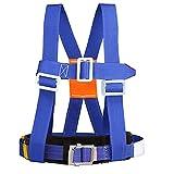 Hainice Kits de arnés de Escalada Ajustable Media Cuerpo Cinturón Seguridad Arnés Caída Arresto Equipo de Escalada Azul
