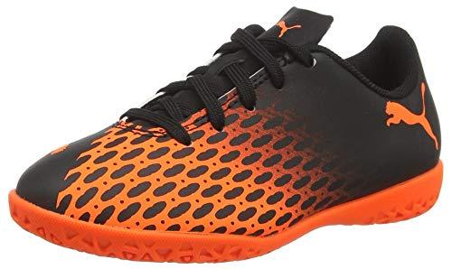 PUMA Unisex-Kinder Spirit Iii It Jr Fußballschuh, Black-Shocking Orange, 39