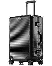 スーツケース TSAロック アルミフレーム 海外旅行 ビジネス出張 軽量 耐衝撃 静音 ダブルキャスター 仕切り付き 横段キャリーケース
