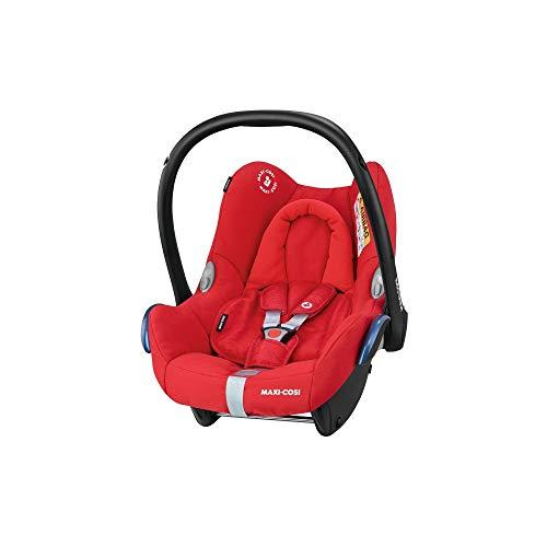 Maxi-Cosi CabrioFix, Silla de auto, reclinable y seguro para bebé, 0-12 meses, 0-13 kg, Nomad Red (rojo)