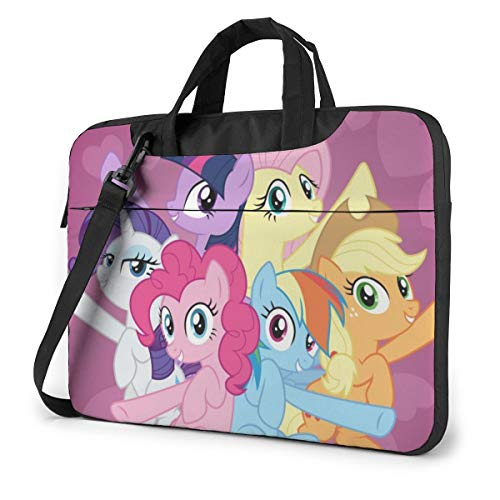 My Pony Cartoon Animation Laptop Sleeve Laptop Bag Tablet Briefcase Ultraportable Protective Handbag Oxford Cloth-for MacBook Pro/MacBook Air/Notebook Computer 15.6 Inch