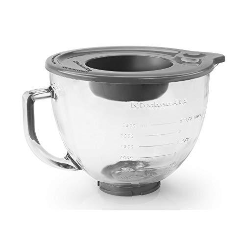 KitchenAid 5-Qt. Tilt-Head Glass Bowl with Measurement Markings & Lid
