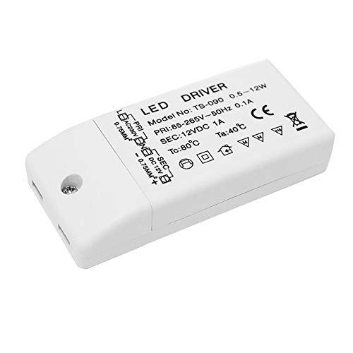 sahnah 85-265V To 12V LED Driver Power Supply TS-090 Durable Voltage Transformer For MR16 MR11 Portable Power Converter