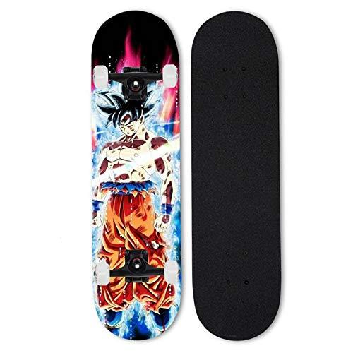 Love your life Complete Skateboard Mini Cruiser Anfänger Skateboard 31 Zoll Dragon Ball Super Vegetto Blau Goku (Verschiedene Optionen) (Color : 5)