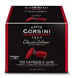Caffe' Corsini Classico Italiano - Confezione da 100 Capsule Compatibili Lavazza* a Modo Mio* da 7,5 grammi di caffè macinato