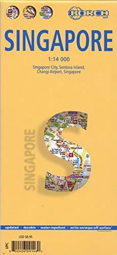 Singapore, Singapur, Borch Map: Singapore City, Sentosa Island, Changi Airport, Singapore: Einzelkarten: Singapur City 1:14 000, Singapur 1:120 000, ... Airport 1:4 000, Public Transportation SMRT
