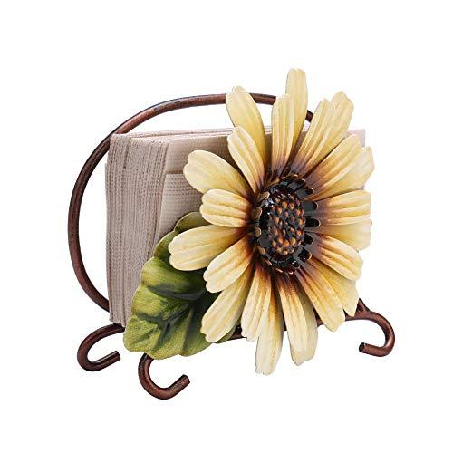 Servilletero rústico, dispensador de servilletas de flores vintage, dispensador de pañuelos independiente, servilletero, servilleteros para mesas